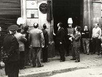 Acte de col.locació placa commemorativa en el 75e. Aniversari del Club